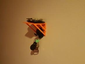 Key hook and wallet shelf