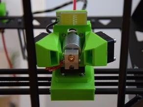 modular hotend bowden mount incl. fan duct and light