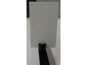 Screen holder for OpenBeam Optical Rail