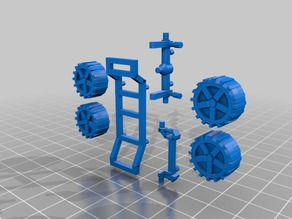 Low poly buggy chassis
