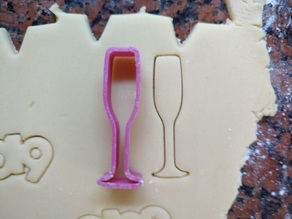 Champagne glass cookie cutter for new year