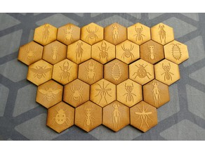 Hive Boardgame with Case, Laser Cut