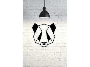 Panda Wall Sculpture 2D