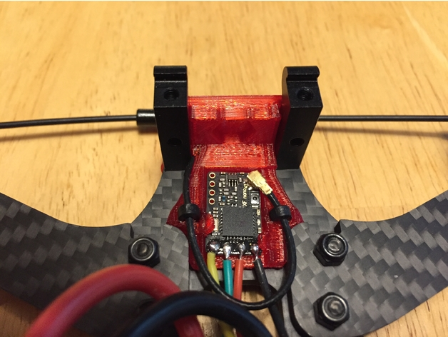 Rooster VTX Antenna and Crossfire Nano RX Mount by