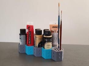 Expandable Paint & brush rack