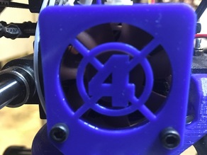 Fantastic Four Wanhao i3 Fan Spacer/Grill v2