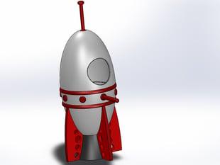birdhouse space rocket