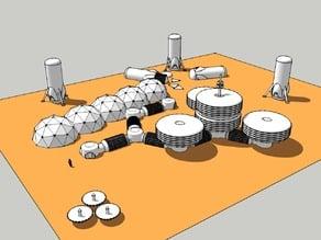 Autonomous Landing Modular Inflatable Habitat