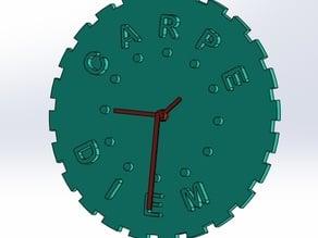 Carpe Diem Wall Clock (aprovecha el tiempo)