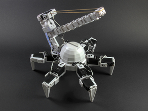 Hexapod with Elastic Band Shooting Turret