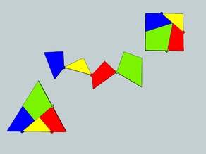 Shape Shifting geometry - Triangle Square