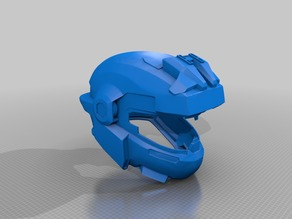 Halo Reach Noble 5 helmet scaled to a standard 2xl motocycle helmet