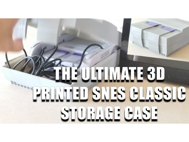 SNES classic storage case that looks like a SNES classic by