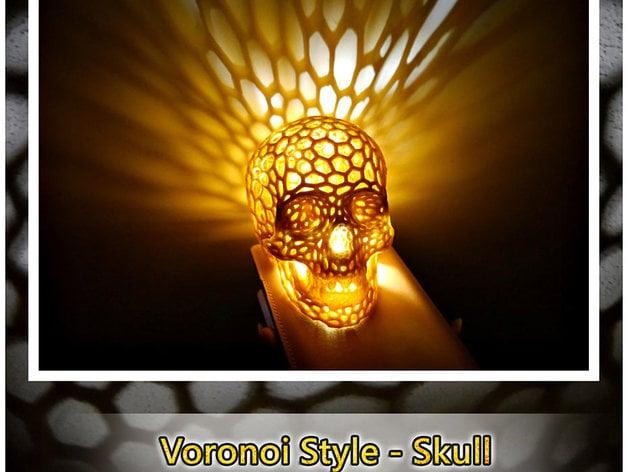 skull lamps voronoi style  shiuan thingiverse