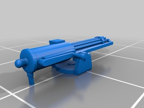 Gatling Gun in parts