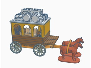 Horse-drawn Carriage for 28mm