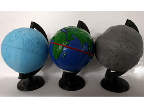 Some Globes (Earth + Vesta)