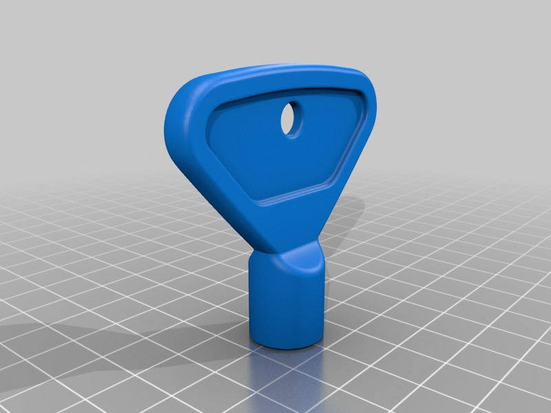 Key for outdoor water faucet by CreativeTools - Thingiverse