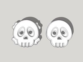 Cute Skull Shirt Buttons