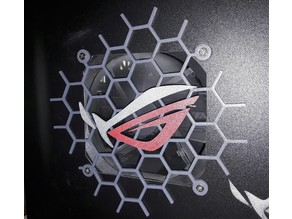 Asus ROG 120mm fan grill with logo