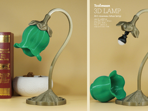 art nouveau lotus lamp