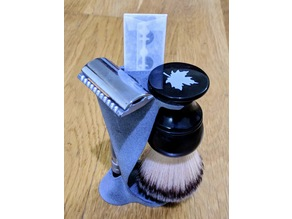 Razor and brush holder