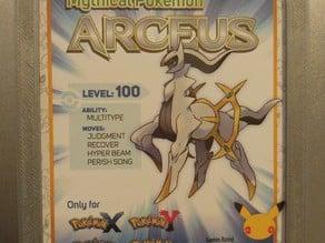 Pokemon Arceus Mystery Gift Frame