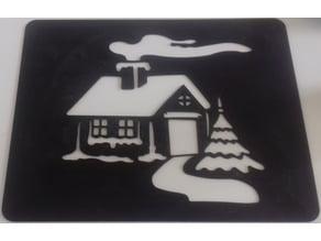 Xmas stencil - Pochoir de Noël - House