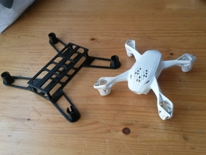 Micro Quadcopter Drone Frame V2 (Made for Hubsan X4 electronics)