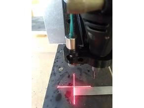 Dremel CNC mount with laser cross sight.