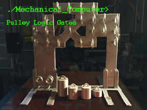 Mechanical Computer: Pulley Logic Gates
