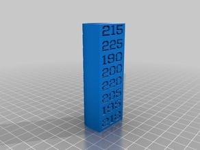 PLA Extruder Temperature Testing Column