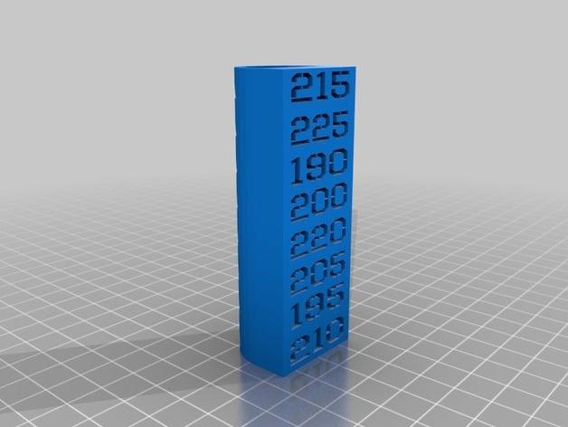 3d Printer Filament >> PLA Extruder Temperature Testing Column by pasqal ...