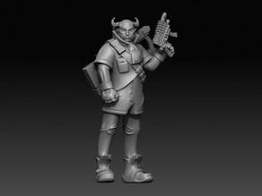 Troll decker from Shadowrun rpg