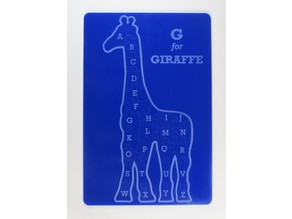 Laser cut Giraffe Alphabet Puzzle for kids