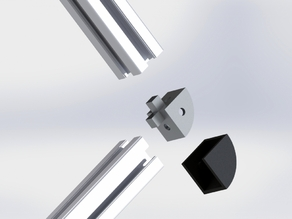 Aluminium profile 2020 6mm plug for 2 profiles and cover