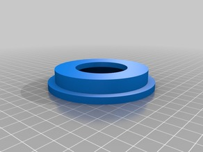Adapter ring and extended nut for low friction spool holder