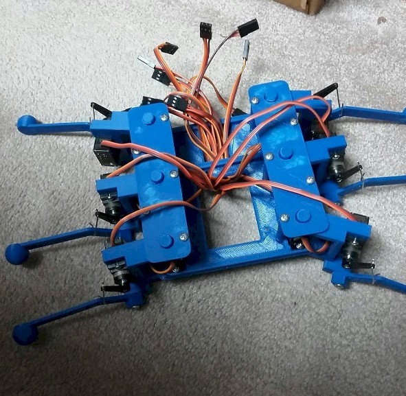 Hexapod Robot Body and Legs by waynesalhany - Thingiverse