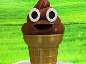 Ice cream Emoji or Poop on a Cone