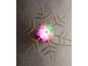 Color changing snowflake
