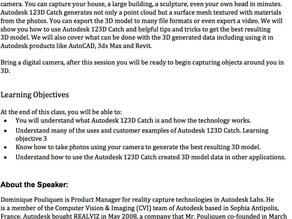 Autodesk University 2011 123D Catch Manual