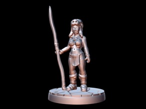 Barbarian Priestess (15mm scale)