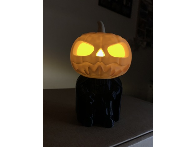 Darth Pumpkin Vader With Battery Tea Light By Gasmonkey Thingiverse