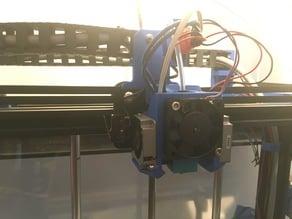 E3D V6 mount for Creality Ender 4 and Unitedpro b3510x05b cooling fans