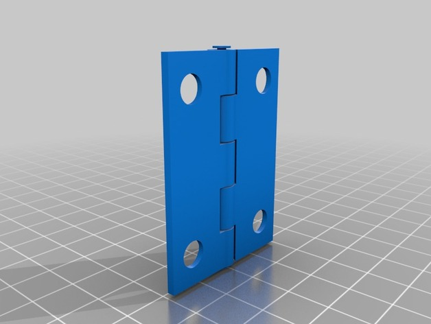 """1-1/2"""" wide x 2"""" tall hinge - No assembly required"""