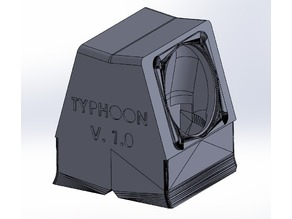 """Typhoon"" Twin 30mm Part Cooling for Frankenstein E3D Hot End"