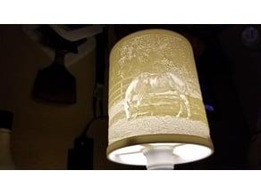 Horse lithophane lampshade