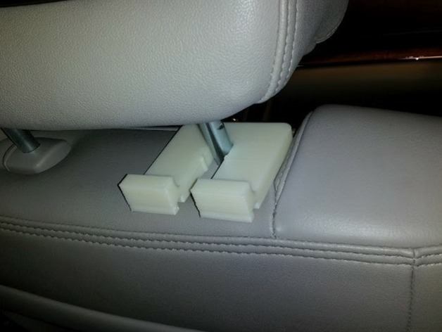 Make Your Own Car >> Headrest Headphone Hook System by RyGuy - Thingiverse