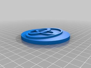 Toyota logo wheel centre cap (positive)