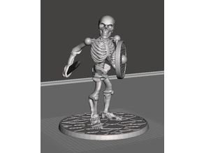 28mm Skeleton Warrior with Short Sword and Shield